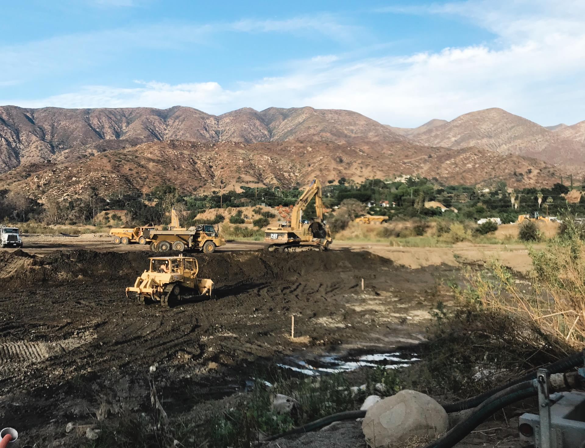 Robles Forebay Restoration Updates: Work has commenced!